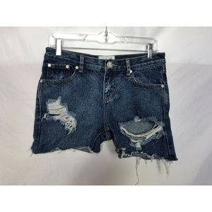 One Teaspoon Awesome Baggies Distressed Cut Off 25